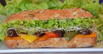 Roast Vegetable Pumpkin Seed Panini
