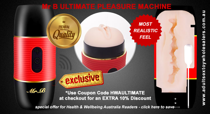 Mr B Ultimate Pleasure Machine Vibrating Handheld Masturbator